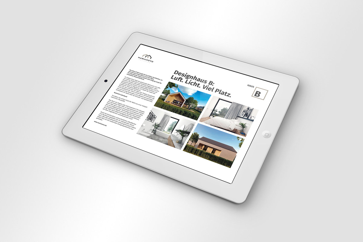 Marianovo Broschüre Haustyp B Online