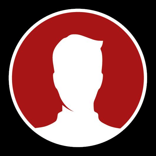 Icon mit einer Silhouette eines Mannes