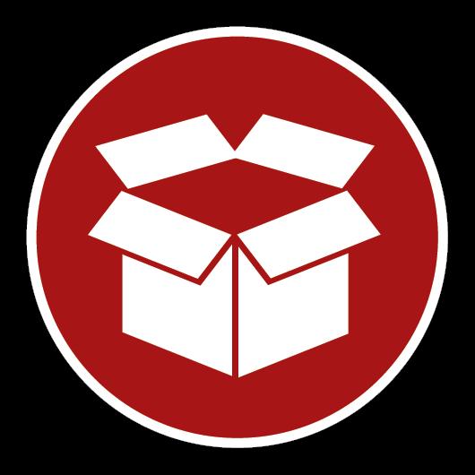 Icon mit Karton