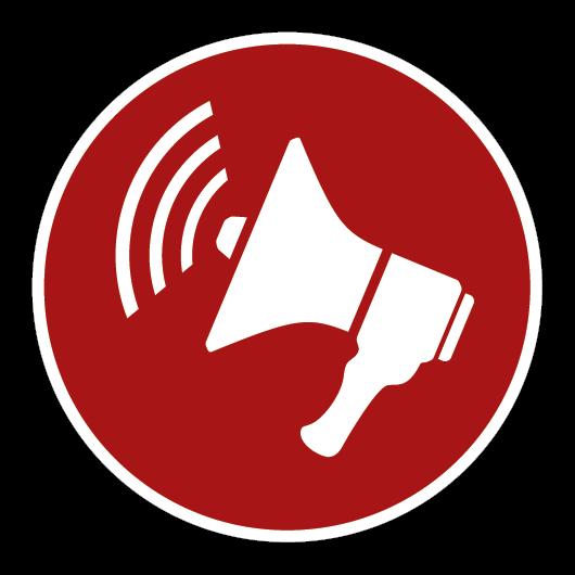 Icon mit Megafon