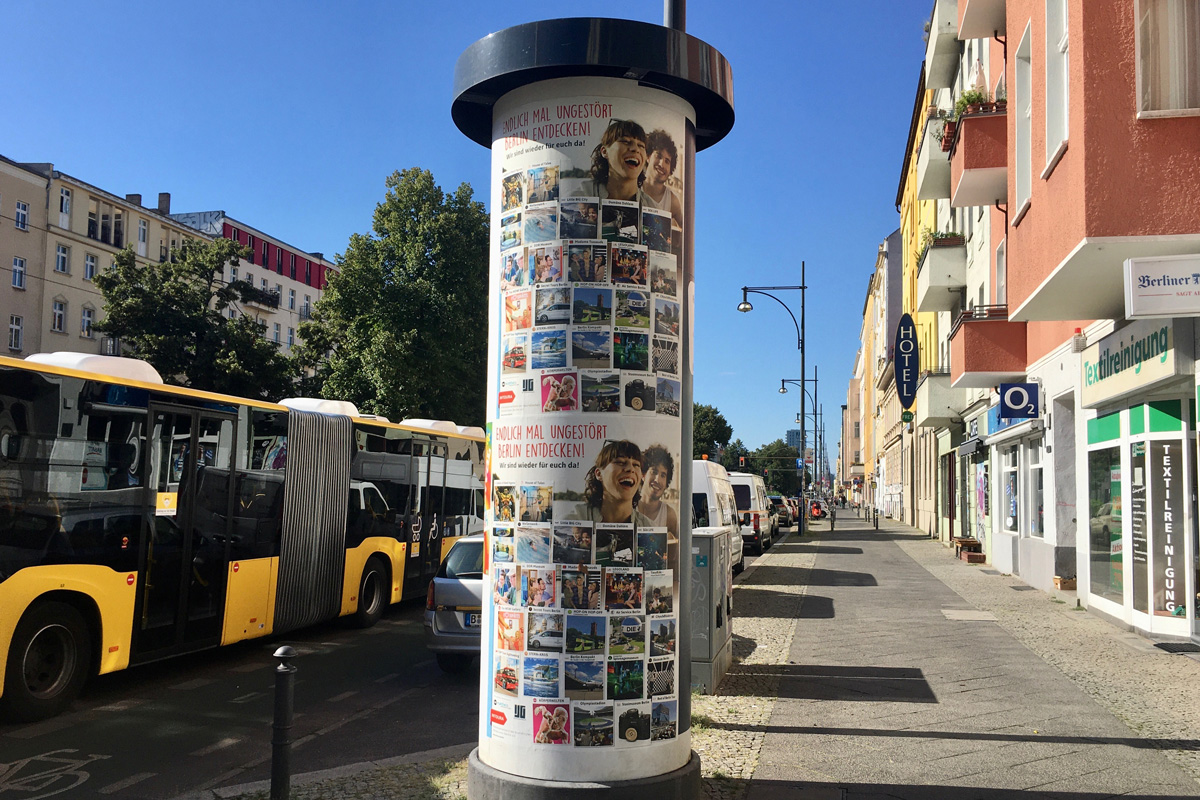 Plakatkampagne Intoura Prenzlauer Berg