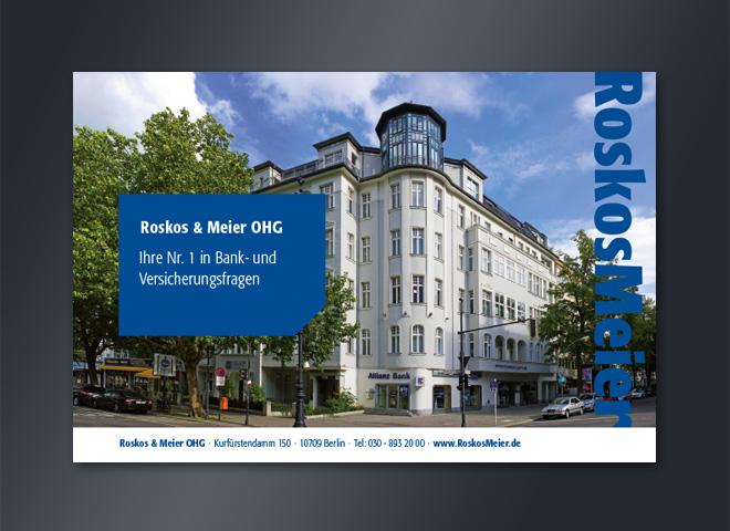 Allianz Versicherung Roskos Meier Berlin Kurfuerstendamm Altbau Nr 1 gestaltung Mattheis werbeagentur