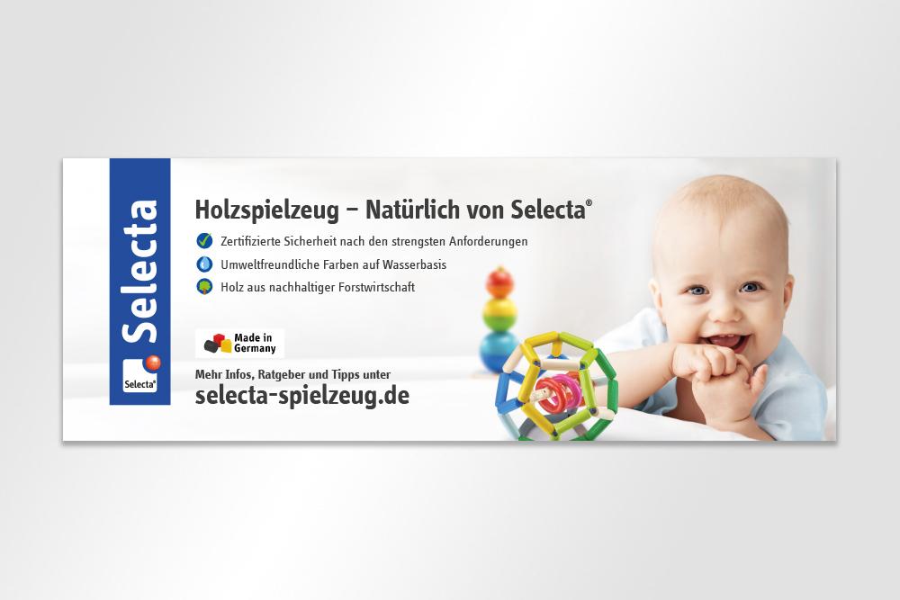 Anzeige Baby Selecta Spielzeug