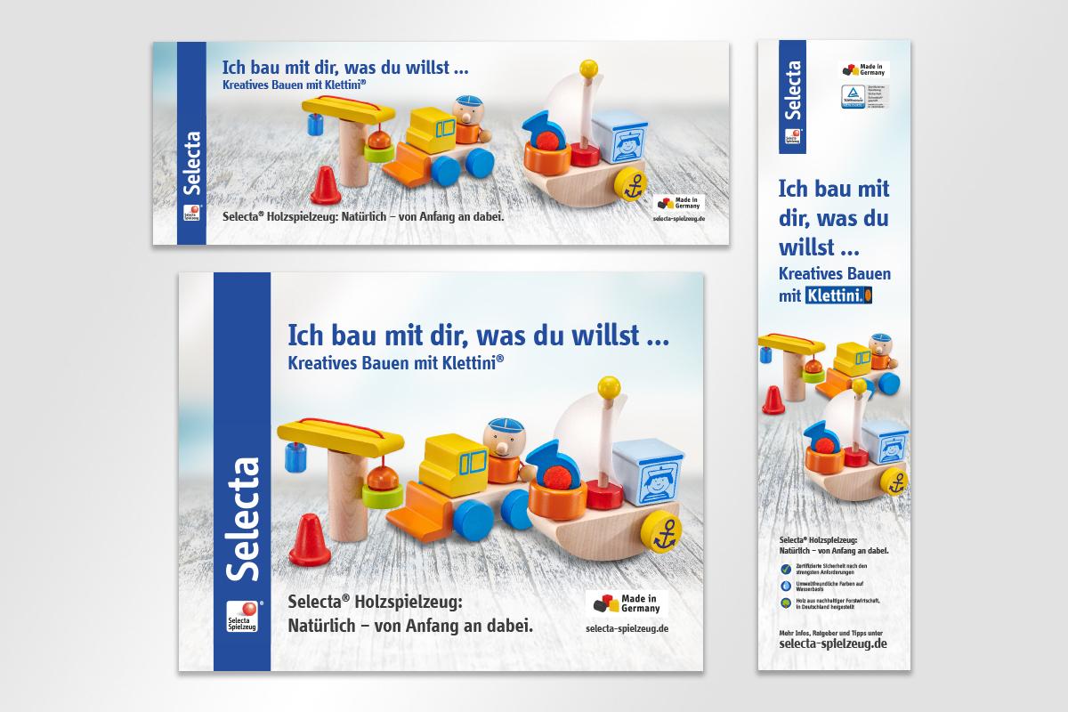 Anzeige Klettini Selecta Spielzeug