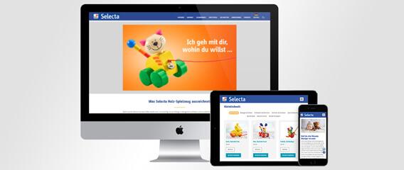 Mattheis Werbeagentur Pressetext: Selecta® Holzspielzeug neue Website und Kampagne