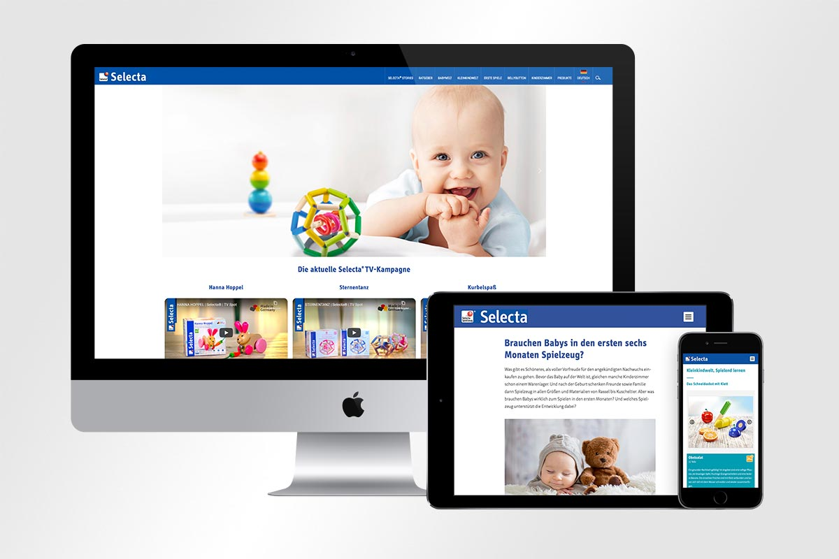 Responsive Webdesign Selecta | mattheis. werbeagentur gmbh