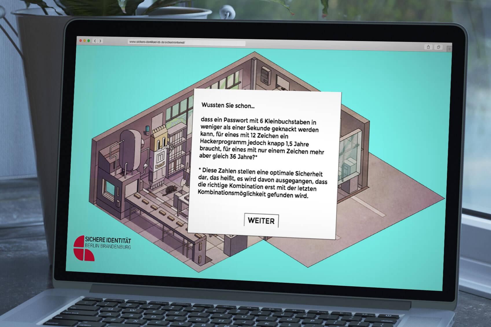 """Sichere Identitaet Browser-Games """"Sicher im Internet"""" im Mittelstand"""