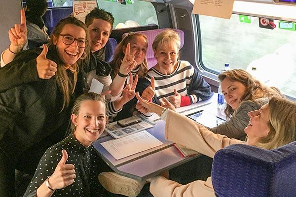 Teilnehmer beim Atoutfrance MICE Workshop im TGV © Siegbert Mattheis