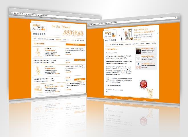 Schlagfertigkeit Redenslust Reden sprechen erfolgreich Kurse Seminare Website orange männchen nicht klicken Live-Termine Stefan breuer Konzeption Mattheis WA