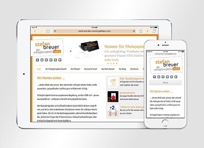Webdesign Stefan Breuer Schlagfertigkeitscoach
