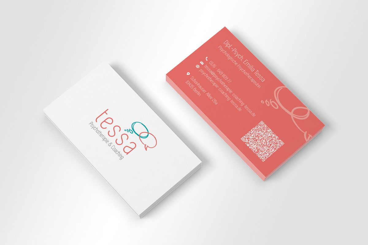 Tessa – Psychotherapie & Coaching Visitenkarte