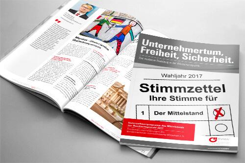 Magazin Unternehmerprogramm des Mittelstands zur Bundestagswahl 2017 vom BVMW