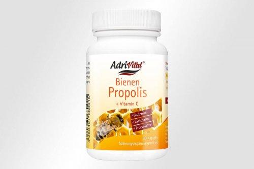 Verpackungsdesign/Etikettgestaltung für Bienen Propolis – Adri Vital D. Ramadani Nahrungsergänzung