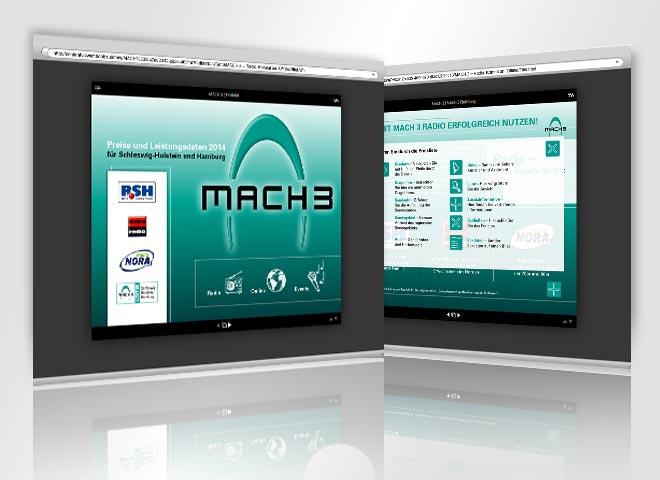 Regiocast Mach 3 Hamburg Radiopreisliste Regiocast alle Radiosender Einleitung Titel Gestaltung Mattheis Werbeagentur