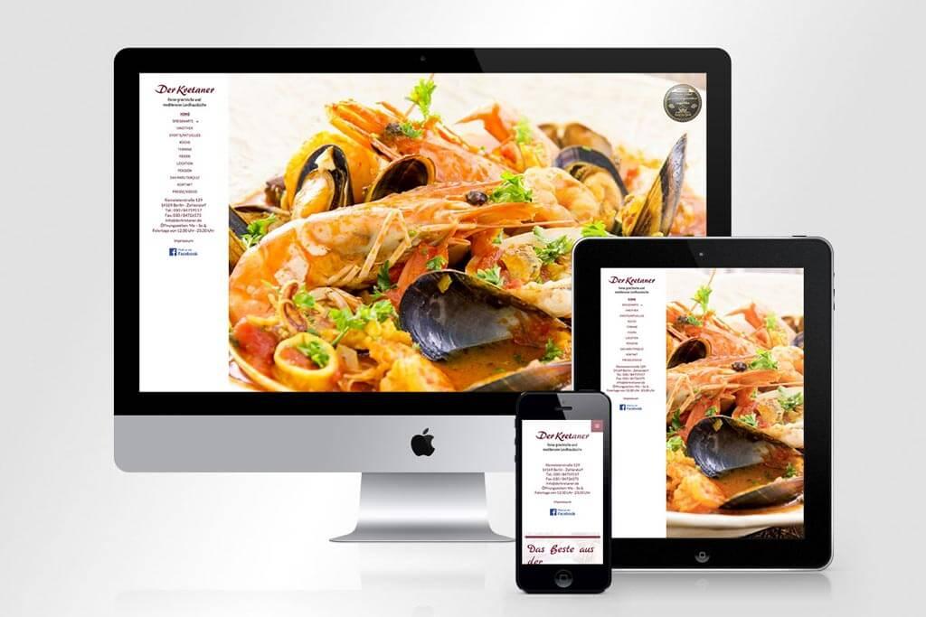 Webdesign Der Kretaner | Mattheis Werbeagentur Berlin
