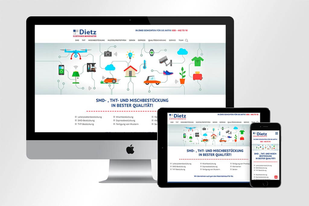 Webdesign Dietz Elektronikmanufaktur | Mattheis Werbeagentur Berlin