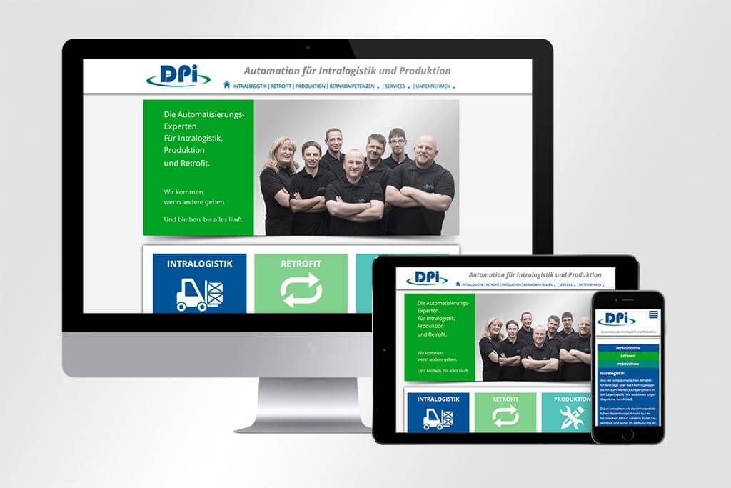 Webdesign DPI Automatisierungssysteme | Mattheis Werbeagentur