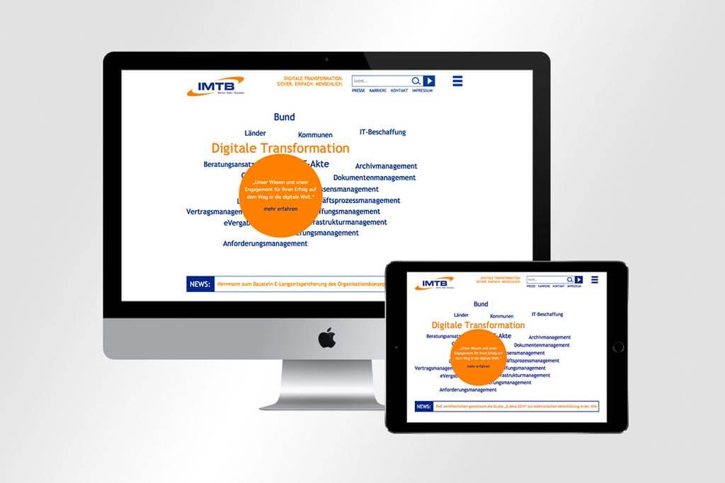 Webdesign IMTB | Mattheis Werbeagentur