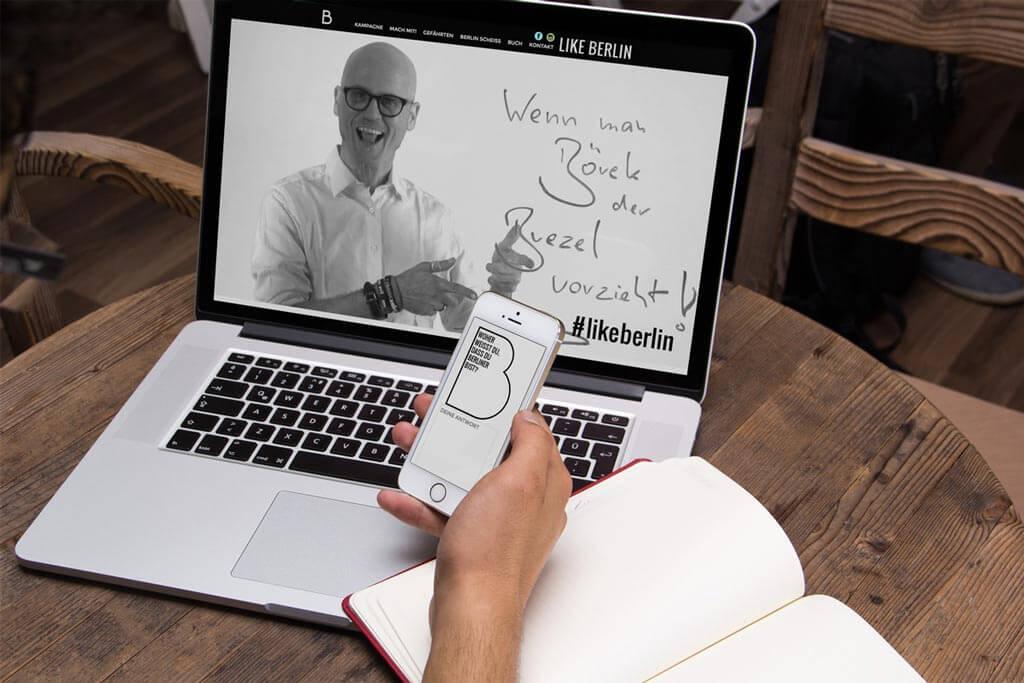 Webdesign B Like Berlin | Mattheis Werbeagentur Berlin