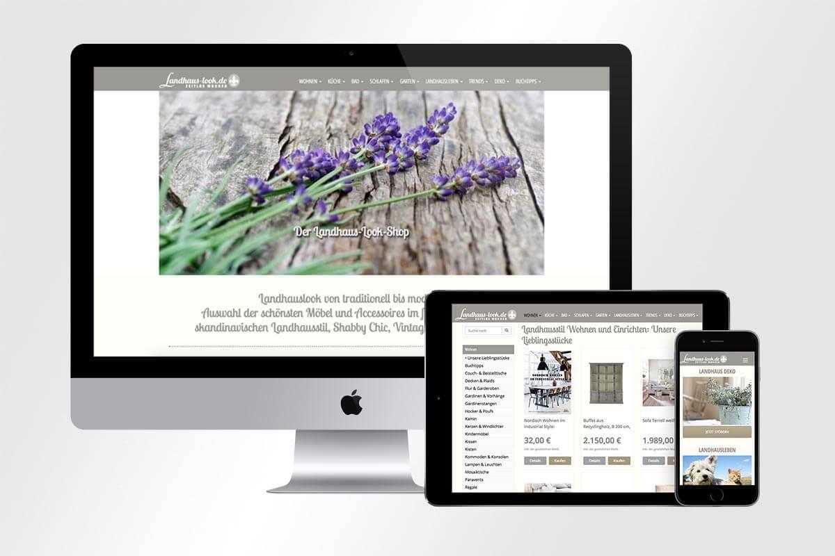 Webdesign Landhaus-Look Shop | Mattheis Werbeagentur