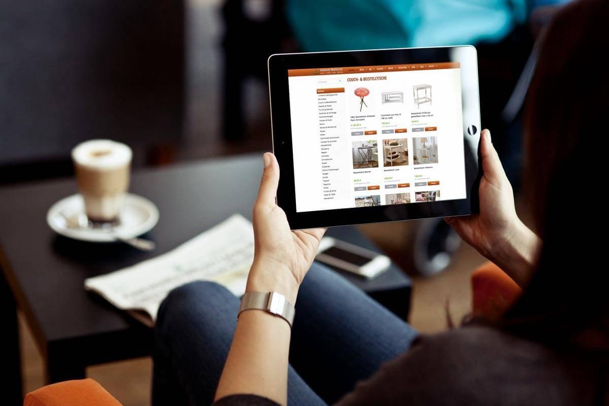 Webdesign Shop Tablet