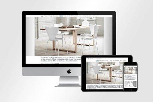 Webdesign Wohnen in Weiss | Mattheis Werbeagentur Berlin