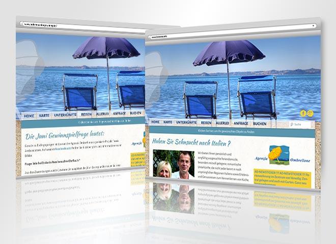 Bolsena Info Agenzia Ombrellone reisen Italien Urlaub
