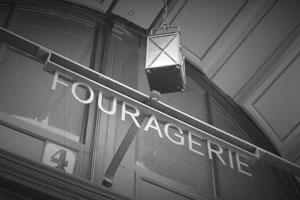 Eingangsschild Fouragerie