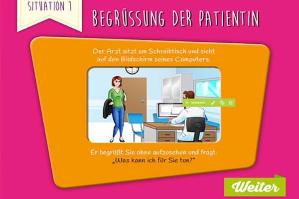Titelbild Situation 1: Spielerisches Lernen in der Kommunikation zwischen Patient und Arzt