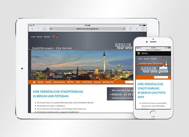 Responsive Website von berlin Tour and Guide optimiert für mobile Geräte