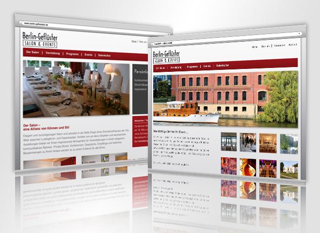 Website Berlin Geflüster Gestaltung Mattheis Werbeagentur