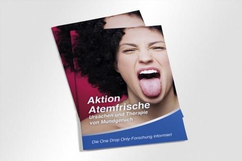 One Drop Only – Broschüre Atemfrische Umschlag | Mattheis Werbegantur