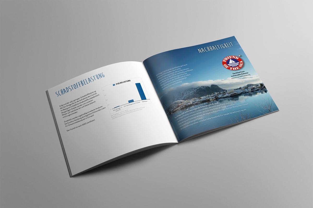 Broschüre San Omega-3 Total Öl und Kapseln