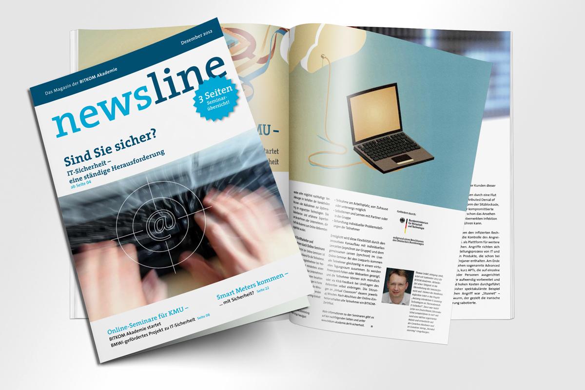 Alle Titel Magazin newsline BITKOM mattheis Werbeagentur