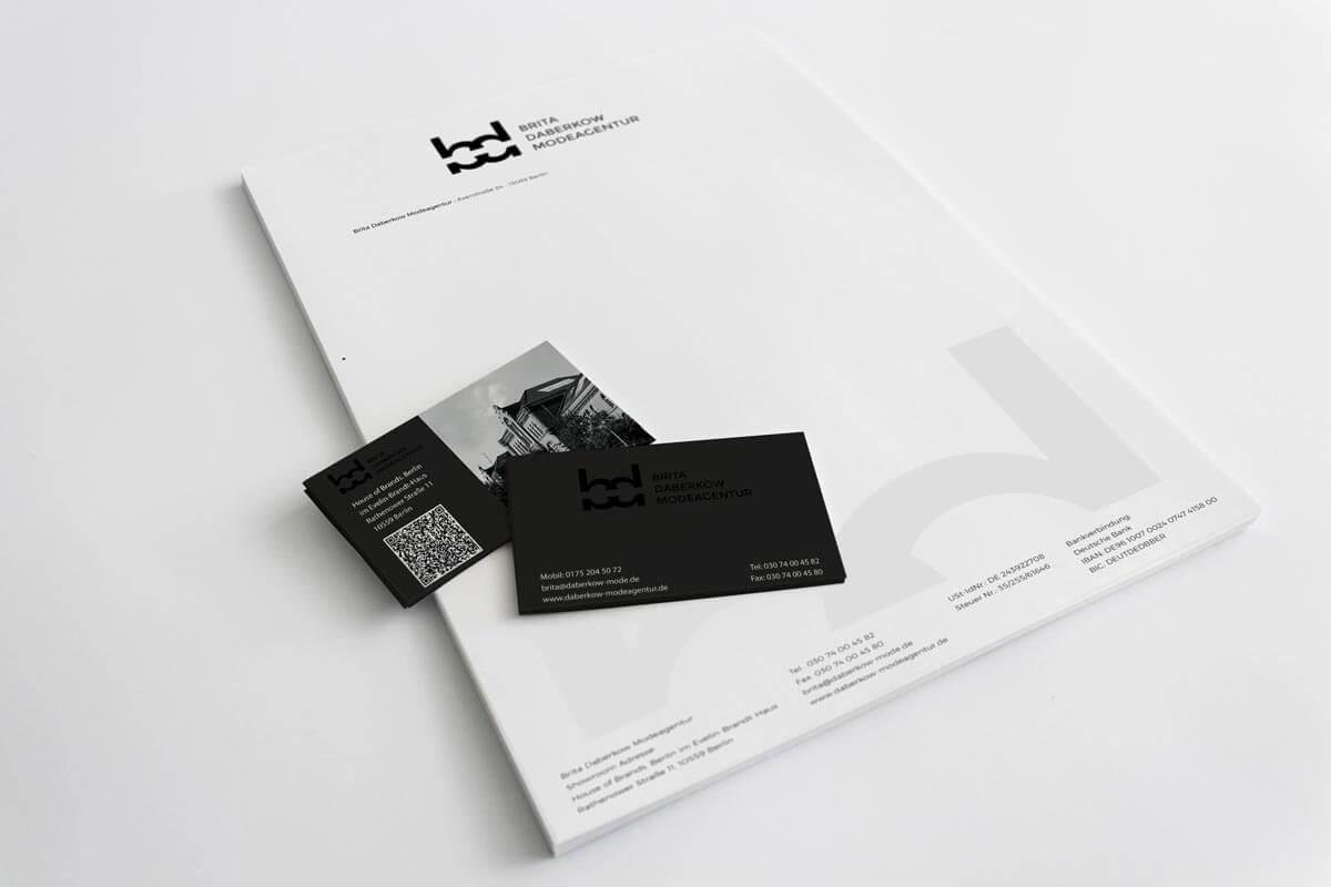 Brita Daberkow Modeagentur – Corporate Design Geschäftsausstattung