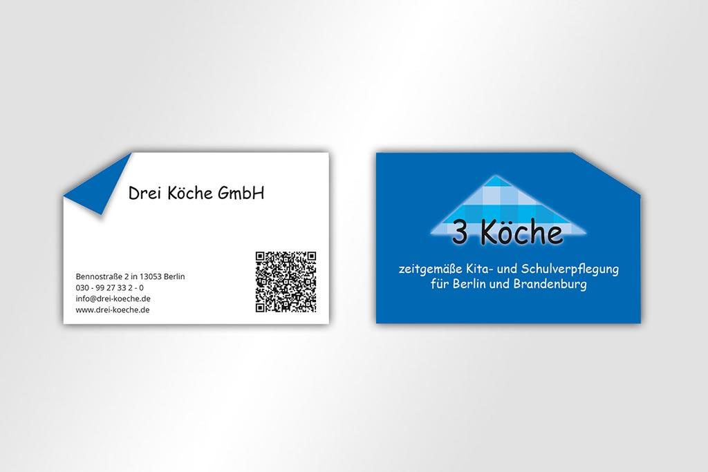 Corporate Design Visitenkarte 3 Köche