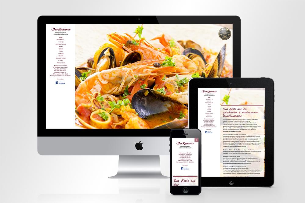 Webdesign Der Kretaner Restaurant