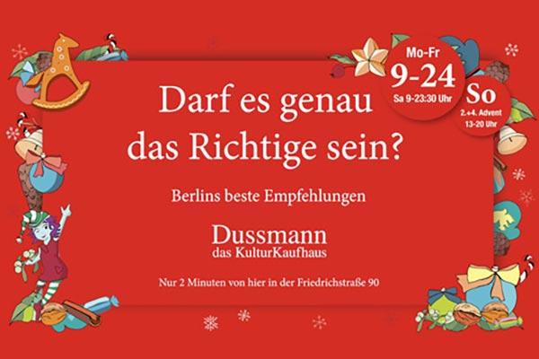 Dussmann Bewegtbildkampagne Weihnachten Titelbild
