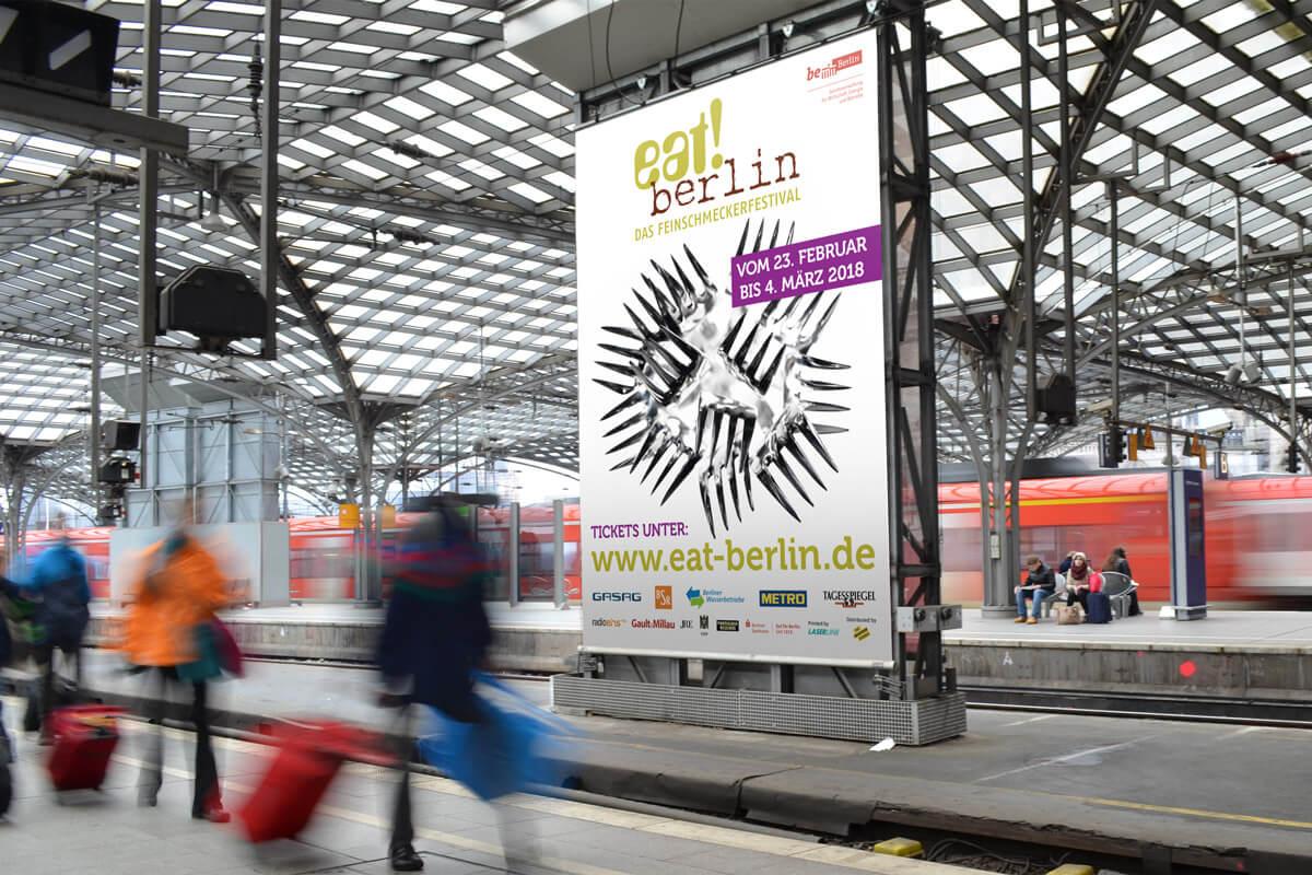 Großflächenplakate eat! berlin | mattheis. Werbeagentur