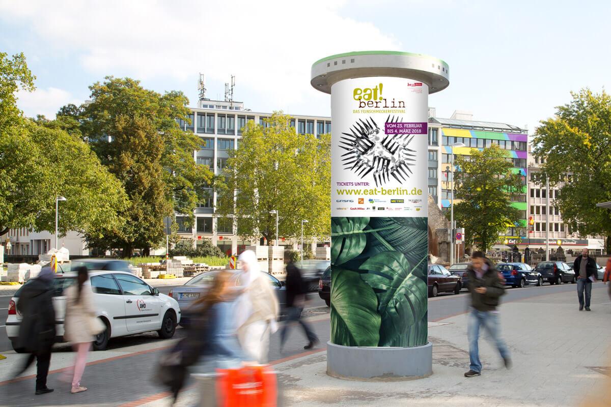 Plakat Litfaßsäule eat! berlin | mattheis. Werbeagentur
