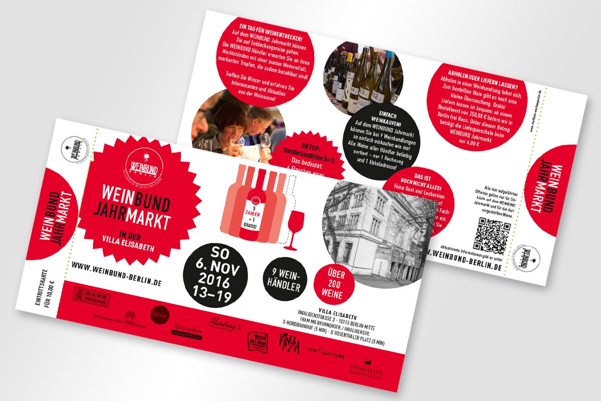 Eintrittskarten für Weinbund Jahrmarkt 2016