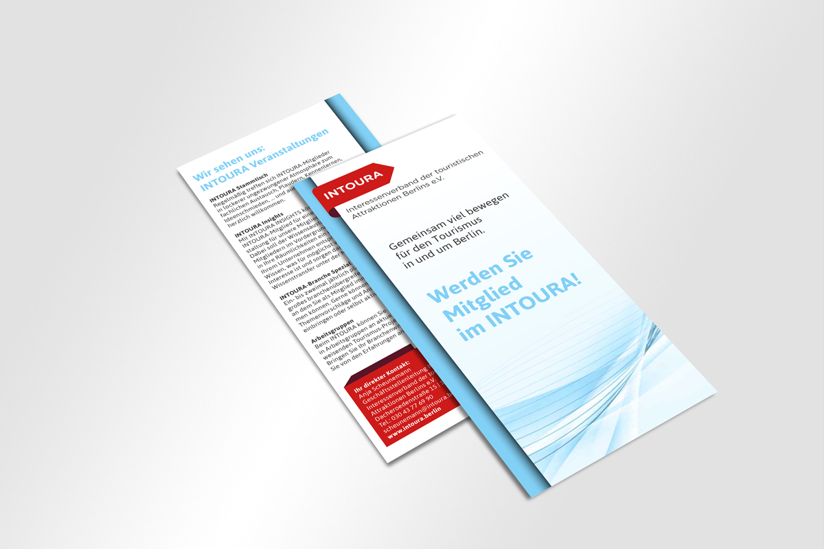 Cover und Rückseite Flyer INTOURA