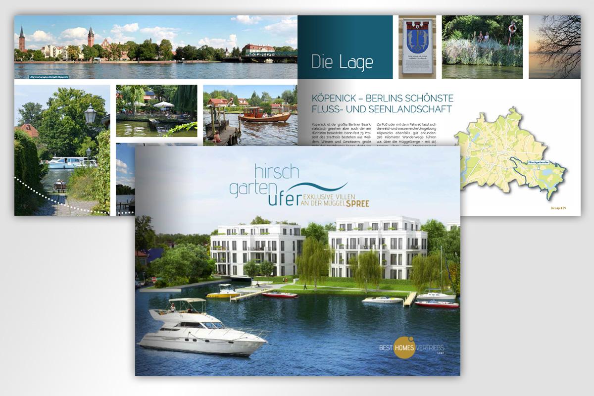Villenpark Hirschgartenufer Kleine Broschüre, gestaltet von mattheis. werbeagentur gmbh
