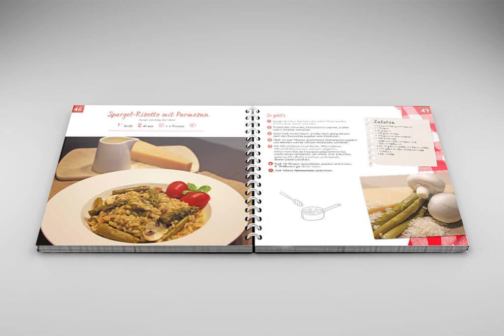 Gestaltung individuelles Kochbuch von Mitarbeitern einer Wohnungsgenossenschaft
