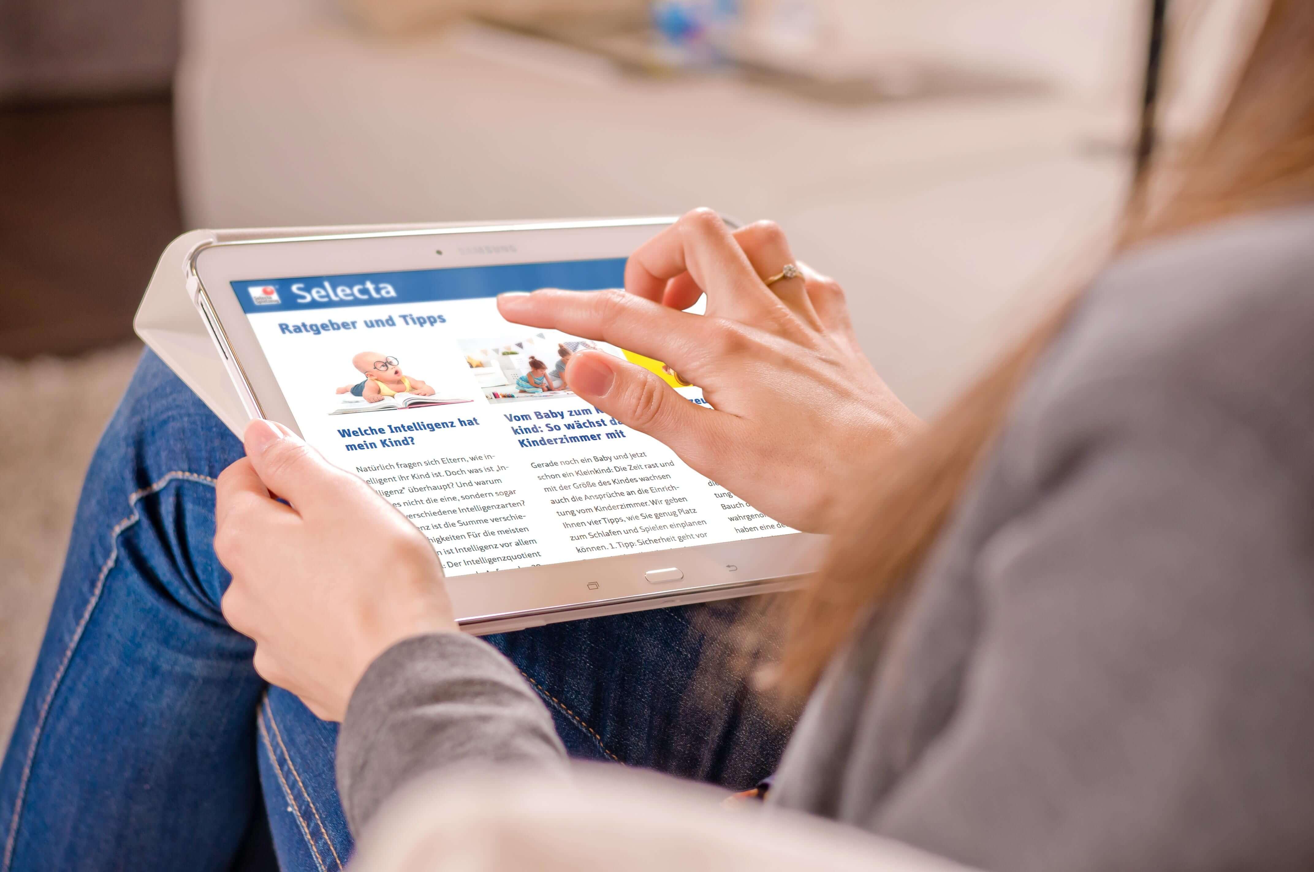 Ansicht Samsung Selecta Webseite | mattheis. werbeagentur gmbh