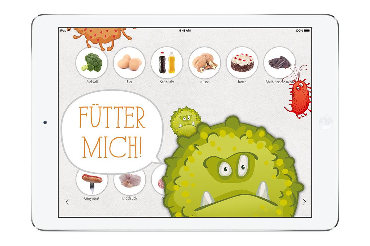 Krebsmonsterspiel, KernGesund Foodrevolution App