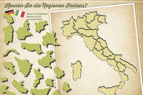 Gamification App mit Italienpuzzle