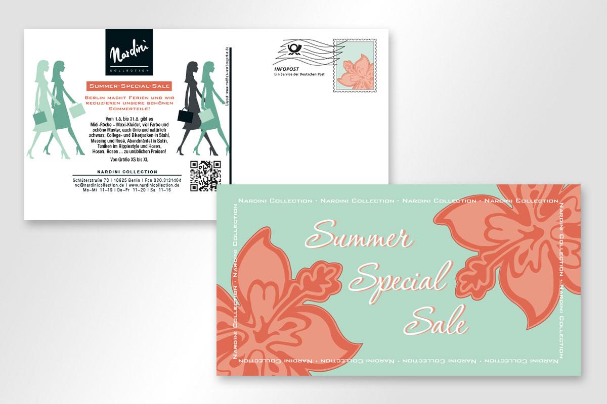 Summer Sprecia Sale Aktionskarten für Nardini Collection