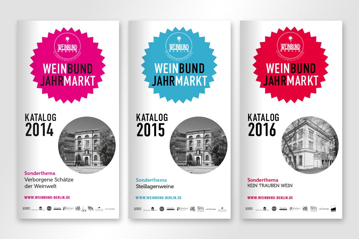 Kataloge Weinbund Jahrmarkt Berlin
