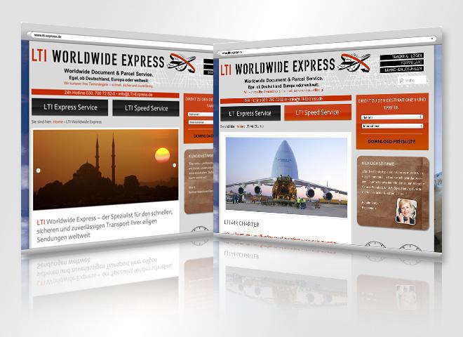 LTI Worldwide Express Website Werbemittel kommunikation mattheis. Werbeagentur Berlin